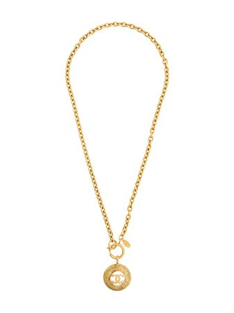 Chanel Pre-Owned 1980s Chanel Gold Plated Coin Pendant metallic NL019064 - Farfetch
