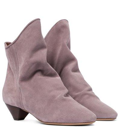 Isabel Marant - Doey suede ankle boots | Mytheresa