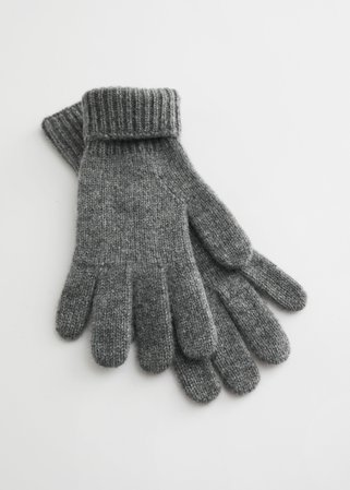 Knitted Cashmere Gloves - Grey - Gloves - & Other Stories