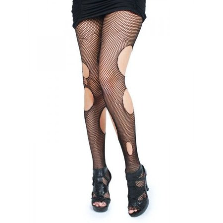 Emo Ripped Fishnet Tights