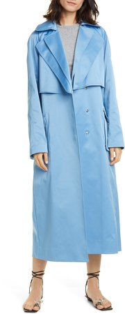 Duchesse Tech Satin Trench Coat