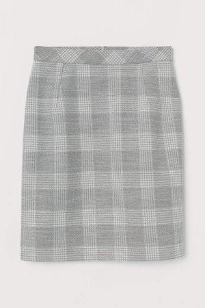 Short Pencil Skirt - Gray