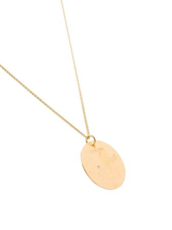 Hermina Athens gold-plated Aquarius Constellation Pendant Necklace - Farfetch