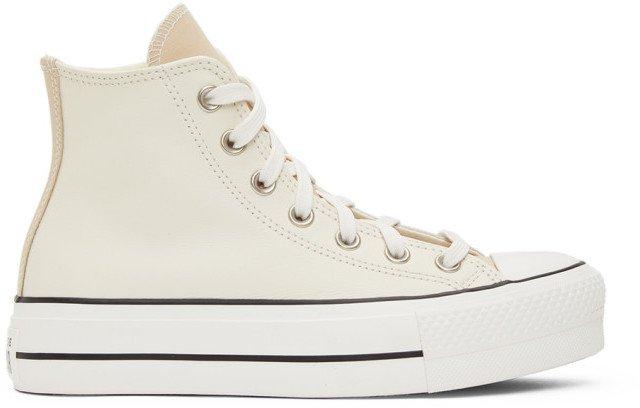 Grey and White Chuck Taylor All Star Lift Sneakers