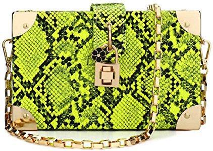 Box Bag Snakeskin Pattern Crossbody Bag for Women Shoulder Handbags Clutch Purses for Daily Use Travel Work (Green): Handbags: Amazon.com