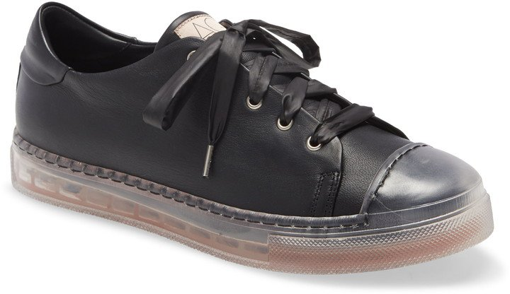 Clear Sole Leather Sneaker