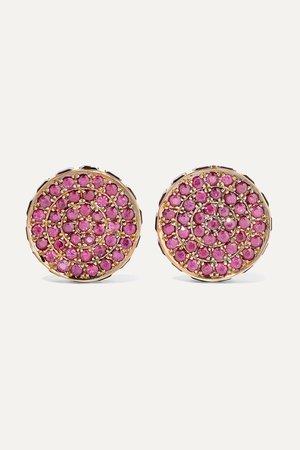 Rose gold Lunar Cycle 18-karat rose gold, ruby and amethyst earrings | Ileana Makri | NET-A-PORTER