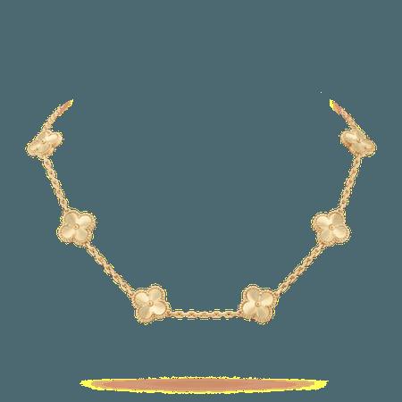 Vintage Alhambra necklace, 10 motifs - VCARP3JJ00- Van Cleef & Arpels