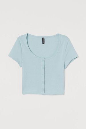 Short Jersey Top - Turquoise - Ladies | H&M US