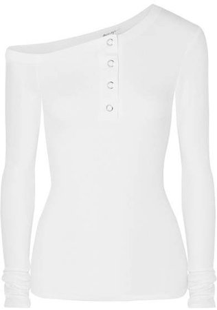The Line By K - Harley Off-the-shoulder Ribbed-jersey Top - White