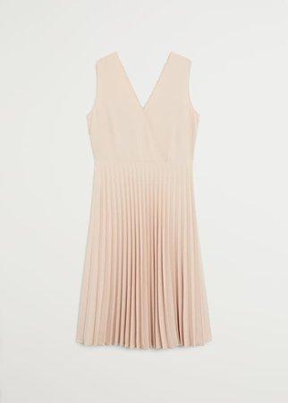 Pleated midi dress - Women | Mango USA