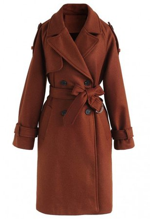 Double-Breasted Belted Pockets Coat in Black - OUTERS - Retro, Indie and Unique Fashion