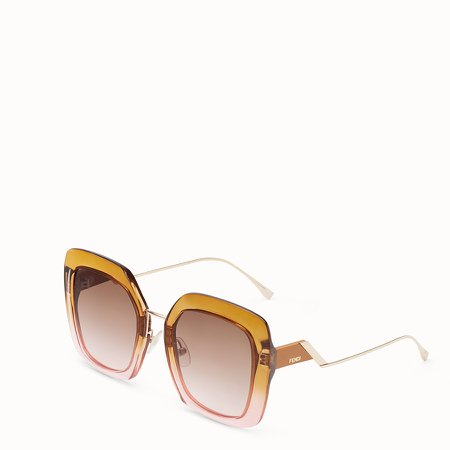 Brown and pink sunglasses - TROPICAL SHINE | Fendi