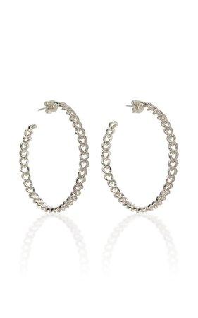 Shay 18K White Gold Diamond Earrings