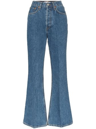 Re/Done 70s Flared Jeans - Farfetch