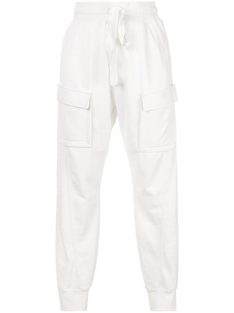 White Manning Cartell Cropped Cargo Trousers | Farfetch.com