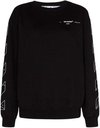 Off White logo-print sweatshirt