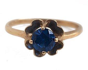 Antique Carnelian Ring 14k Rose Gold Rustic Red Gemstone | Etsy