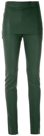 Clé leather skinny trousers
