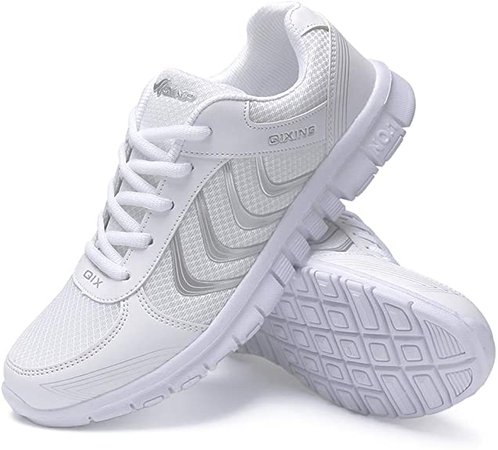 Amazon.com   DUOYANGJIASHA Women's Athletic Road Running Mesh Breathable Casual Sneakers Lace Up Comfort Sports Student Fashion Tennis Shoes White   Track & Field & Cross Country