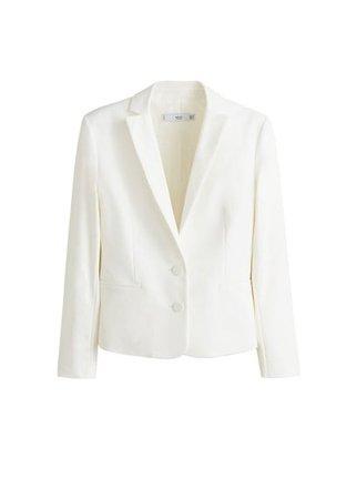 MANGO Structured cotton blazer