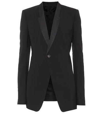 Stretch wool blazer