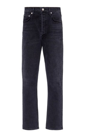 Riley Cropped High-Rise Straight-Leg Jeans by Agolde | Moda Operandi