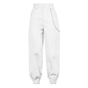 white chain belt pants