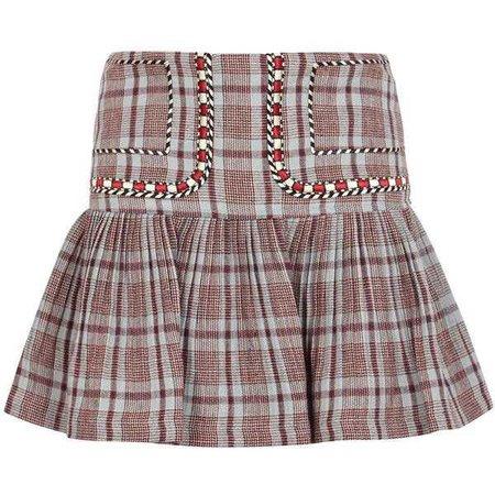 Isabel Marant Étoile Jessie Checked Linen Mini Skirt