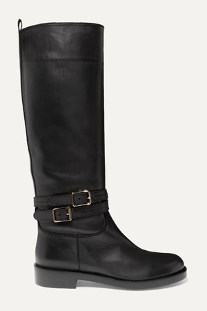 Black Buckled leather knee boots | Gianvito Rossi | NET-A-PORTER