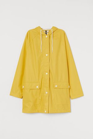 Hooded Rain Jacket - Yellow - Ladies   H&M CA