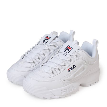 fila disruptors white red blue
