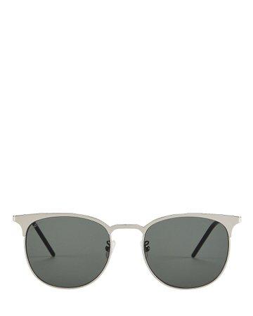 Saint Laurent | Wire Rounded Sunglasses | INTERMIX®