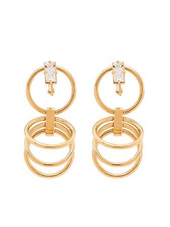 Panconesi Gold Vermeil Crystal Hoop Earrings - Farfetch