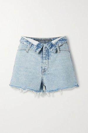 Bite Distressed Denim Shorts - Light denim