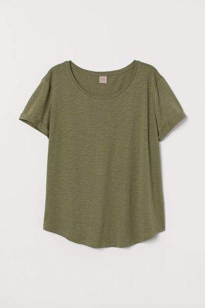 H&M+ Modal-blend T-shirt - Green