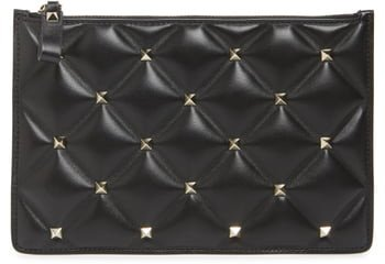 Medium Candystud Leather Pouch