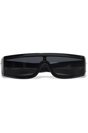 Valentino   Valentino Garavani Visor D-frame printed acetate sunglasses   NET-A-PORTER.COM