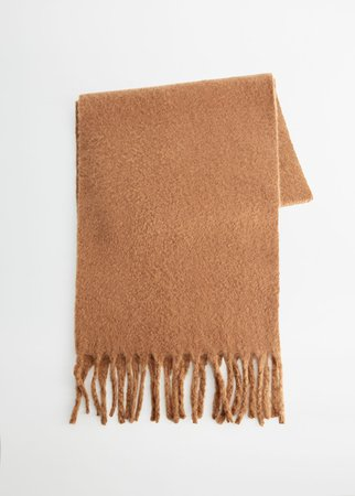 Recycled polyester scarf - Women | Mango USA beige