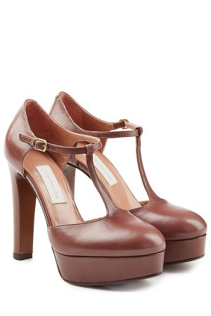 Platform Leather Pumps Gr. IT 38
