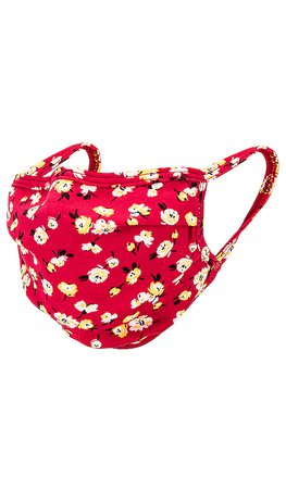 Lovers + Friends Protective Face Mask in Red Mini Floral | REVOLVE