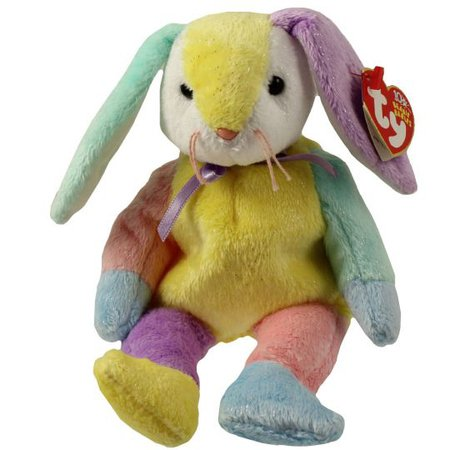 TY Beanie Baby - DIPPY the Multi-Colored Rabbit (Yellow & White Head) (8.5 inch): BBToyStore.com - Toys, Plush, Trading Cards, Action Figures & Games online retail store shop sale