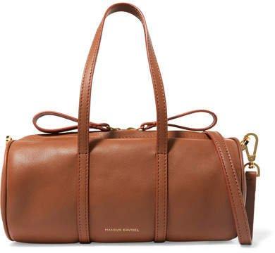 Duffle Mini Leather Shoulder Bag - Light brown