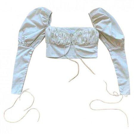 Ecru cotton top Orseund Iris Ecru size S International in Cotton - 9901505