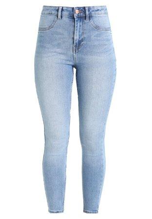 New Look DISCO FRAY HEM PUMPKIN PIE - Jeans Skinny Fit