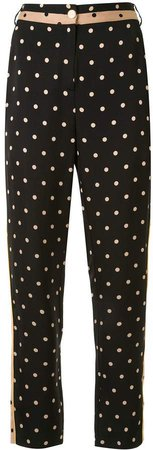 Polka Dot Print Trousers
