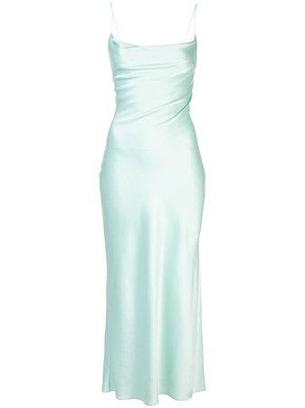 Green Alice+Olivia Harmony Cowl Slip Dress For Women | Farfetch.com