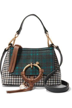 See By Chloé   Joan mini printed textured-leather shoulder bag   NET-A-PORTER.COM