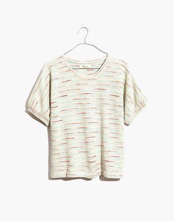 Textured Puff-Sleeve Top