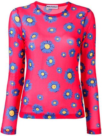 Molly Goddard floral print top $333 - Buy Online - Mobile Friendly, Fast Delivery, Price